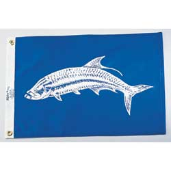 "Tarpon Fish Flag, 12"" x 18"""
