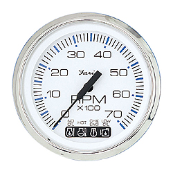 "Tachometer (4""), 0-4,000 rpm. Diesel mech take-off & var ratio alternator"