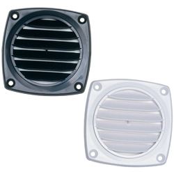 "Louvered 3"" Hose Vent, White"