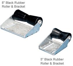 C E Smith Black Rubber Roller & Bracket Assembly, 5 Keel, 5/8 Shaft