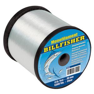 Bulk Monofilament 1Lb Spool, Clear, 25Lb, 2700Yds