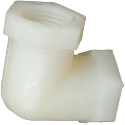 Nylon 90-degree Elbows, NPT Threaded
