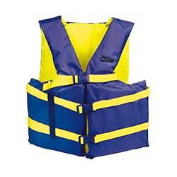 "Runabout Life Jacket, Adult Universal, 30""-52"" Chest"