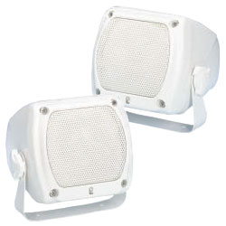Marine Sub-Compact Box Speakers, Pair