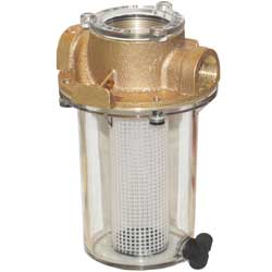 "1"" NPT ARG Raw Water Strainer with Plastic Strainer Basket"