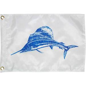 "Sailfish Novelty Flag, 18""L x 12""W"