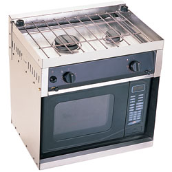 Stove with Microwave Cabinet