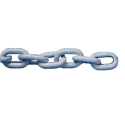 ACCO Precut Polymer-Coated Chain, White, 1/4 x 5'