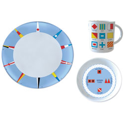 Code Flag 12-Piece Melamine Dinnerware Set