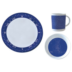 Navigation 12-Piece Melamine Dinnerware Set