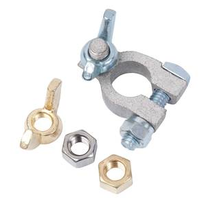"Tinned Copper Battery Terminals, Positive, 3/8"", Wing Nut"