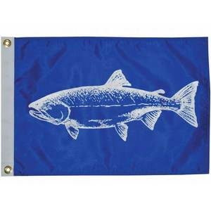 "Salmon Novelty Flag, 18""L x 12""W"