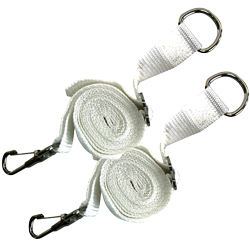 "Bimini Top 78"" Replacement Strap, White, Pair"