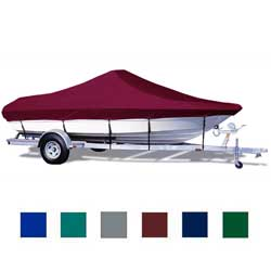 "Bay Boat Cover, Hot Shot, 20'6""-21'5"" Center Line Length, 102"" Beam, Blue"