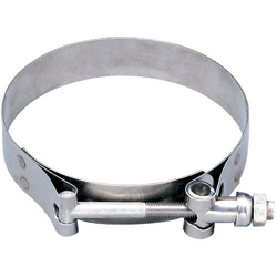 "T-Bolt Exhaust Clamp - Dia. Range: 12.38""-13.04""; Hose ID 12"""