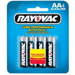 "Alkaline ""AA"" Batteries, 4 Pack"