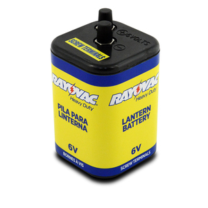 "Alkaline ""6V"" Battery, Screw Top"
