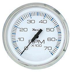 Tachometer Chesapeake White SS