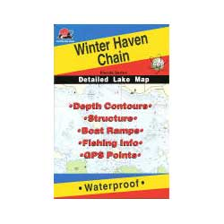 Fishing Hot Spots Winter Haven Chain, Florida, Fishing Chart