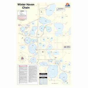 Harris Chain of Lakes Fishing Map, Lake