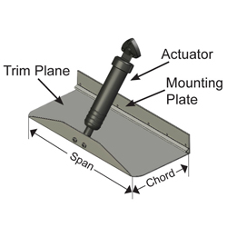 Bennett Marine Trim Tab Kit, 42 x 9, Fits boats: 32' - 38'