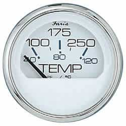 "Water Temperature Gauge, Chesapeake White SS, 2"", 100-250°F"