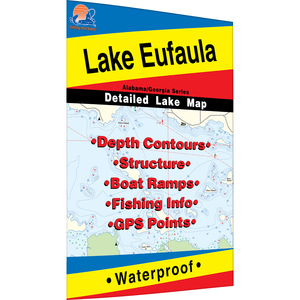 Eufaula (Walter F. George Reservoir) Fishing Map, GA/AL Fishing Map, Lake