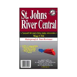 St. Johns River Central Waterproof Map