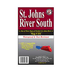 Kingfisher Maps St. Johns River South Waterproof Map