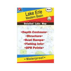 Fishing Hot Spots Lake Erie, Western Basin, Fishing Chart