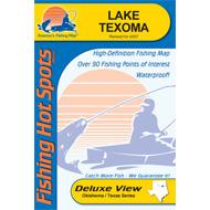 Fishing Hot Spots Texoma, OK/TX, Fishing Chart