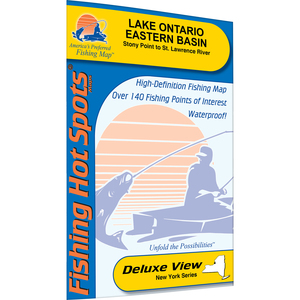 Ontario Fishing Map, Lake (Stony Point to St. Lawrence River) Fishing Map