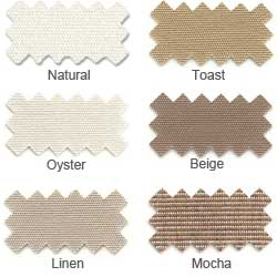 "Sunbrella® Fabric, 46"" Wide - By The Linear YARD (Hues of Light Brown)"