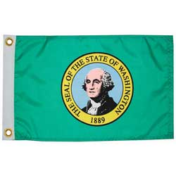 "Washington State Flag, 12"" x 18"""