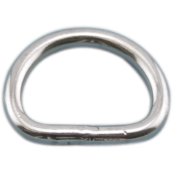 "Stainless Steel ""D"" Rings"