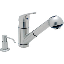 Universal Pull-Out Galley Mixer with Soap Dispenser
