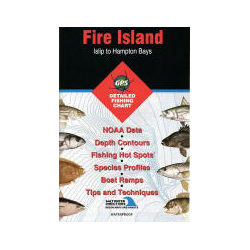 Fishing Hot Spots Fire Island Inshore, Islip to Hampton Bays, NY, Fishing Chart