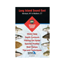 Fishing Hot Spots Long Island Sound East, Montauk, NY, to Madison, CT, Fishing Chart