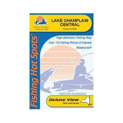 Fishing Hot Spots Lake Champlain, Central (South Hero to Cedar Beach), NY, Fishing Chart