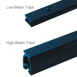 "32mm Low-Beam Track, 8'L, Retrofit 4"" Hole Spacing"