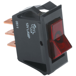 Narrow Body Illuminated Rocker Switches