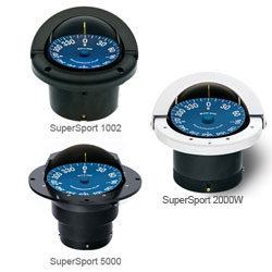 Ritchie Navigation SuperSport Flush-Mount Compass, 5 Apparent Reading