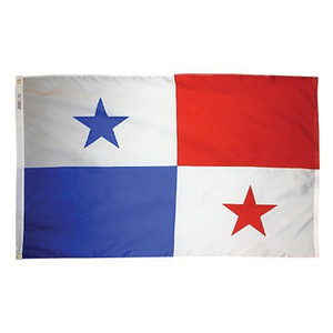 "Panama Courtesy Flag, 24""W x 36""L"