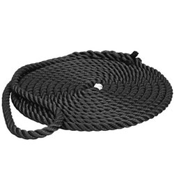 Premium Black Prespliced Three-Strand Nylon Dock Lines