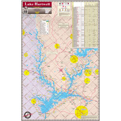 Lake Hartwell, South Carolina, Waterproof Lake Map