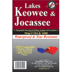 Lakes Keowee & Jocassee Waterproof Map