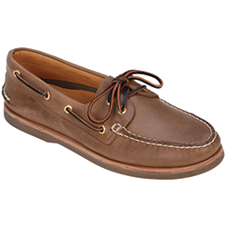 Sperry Men's Gold Cup Authentic Original 2-Eye Boat Shoes, Dark Tan, 9 Tan