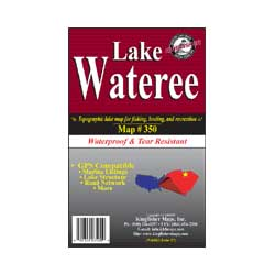 Lake Wateree Waterproof Map