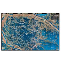 Delacroix Island, Louisiana Laminated Map