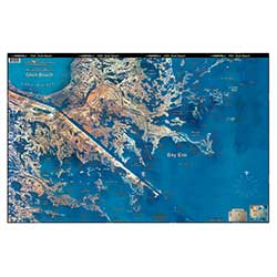 Shell Beach/Hopedale, Louisiana Laminated Map